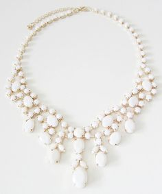 Milk White Statement Necklace #shoplately