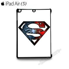 Man of Steel Super Spider Man Superman Spiderman iPad Air (5) Hard Case Cover