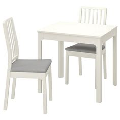 EKEDALEN / EKEDALEN Table and 2 chairs, white, Orrsta light gray - IKEA At Home Furniture Store, Modern Home Furniture, European Furniture, Wall Shelf Unit, Wall Shelves, Table Legs, Table And Chairs, Bag Chairs, Small Dining Table Set