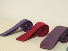 Denim slim ties for you casual, smart casual or business casual dress codes.