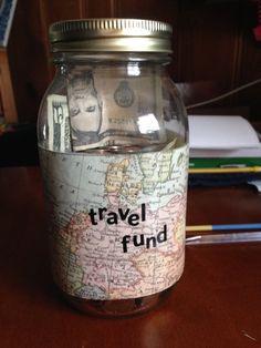 Travel Fund Money Jar