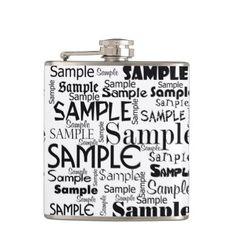 sample hip flask - sample design diy personalize idea