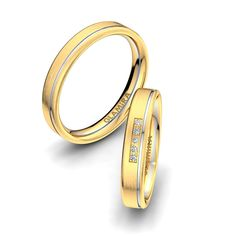 Gold Wedding Rings Are A Symbol Of Never Ending Love And The Promise