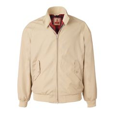Baracuta G9 Slim Fit Harrington Jacket in Natural.
