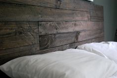 Industrial and rustic headboards made from reclaimed wood. Headboards are made to order! Production time within 3-4 weeks. This piece was built by