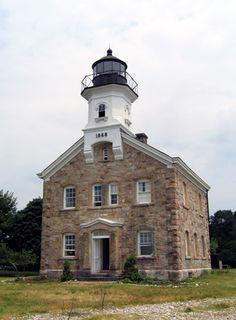 Sheffield Island Lighthouse, Connecticut at Lighthousefriends.com