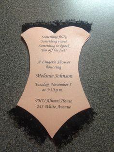 Lingerie shower invitations.