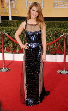 Claire Danes sparkled in a Vionnet gown at the 2014 SAG Awards
