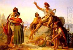 A Neapolitan Story-Teller Pierre Bonirote   Oil Painting Reproduction   1st-Art-Gallery.com