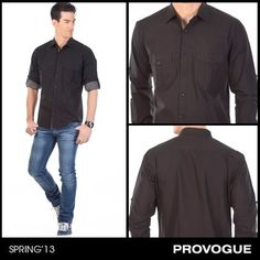 Dress to impress with this black flawless fit shirt and a pair of denims from Provogue! Perfect for a date with a special someone! Check it out at a Provogue Store near you.