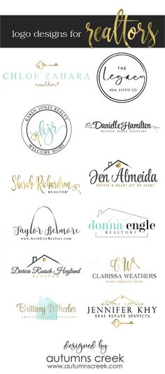 realtor logo designs - premade logo designs  - real estate logo designs by autumns creek