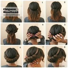 Simple hairstyle for Victorian or lolita or steampunk