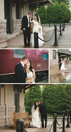 Train stations make for amazing wedding and event venues! View more from this Knoxville wedding inspiration by Katherine Birkbeck Photography featuring a fun train theme. | The Pink Bride® www.thepinkbride.com