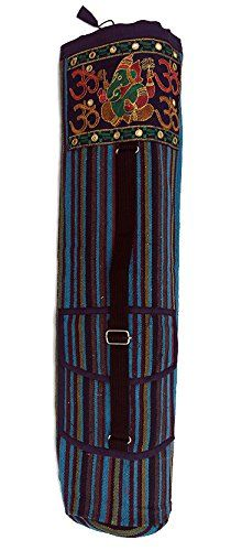 Blue Striped Ganesh Yoga Mat Bags >>> Check out this great product. (This is an affiliate link)