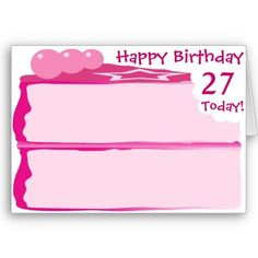 Happy Th Birthday  Birthday Cards Ages  Iced Pink Cake