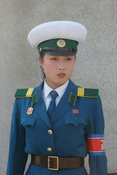 a female soldier from North Korea