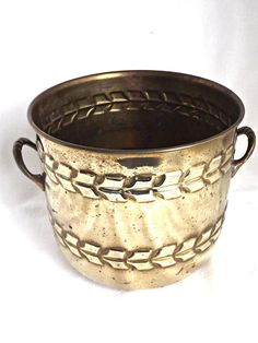 Brass Planter Pot, Indoor Planter, Rustic Brass Planter, Home Decor, Retro Brass, Cottage Decor, Home and Garden by AgedwithGraceVintage on Etsy
