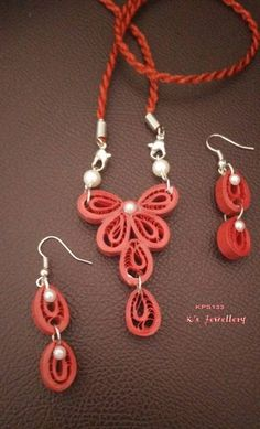 ✿.❤.✿ #Quilling #PaperJewelry