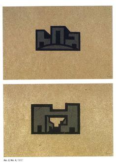 Laszlo Peter Peri, Space Constructions, Linocut Portfolio, 1922-23 Constructivism, Abstraction, Art Chevrolet Logo, Logos, Logo