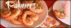 Cinnamon Palmiers (Elephant Ear Cookies) - jensfavoritecookies.com.  These would be nice for Valentine's Day, and are easy!