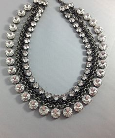 Hey, I found this really awesome Etsy listing at https://www.etsy.com/listing/213681837/swarovski-crystal-necklace-choker-clear