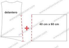 yo elijo coser: Patrón gratis: top con un rectángulo lateral (copiando a Carolina Herrera)