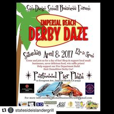 "#Repost @statesideislandergrill with @repostapp ・・・ We will be at the ""Imperial Beach Derby Daze"" tomorrow! So if you missed us today come out and see us tomorrow.  The event is 12pm-5pm. The address is 10 Evergreen Ave, Imperial Beach, CA 91932. 🇬🇺🤙🏼 #StateSideIslanderGrill #ChamorroFood #SanDiego #ChulaVista #NationalCity #Bonita #Eastlake #SpringValley #ParadiseHills #ImperialBeach #FarmersMarket #PacificIslanders #Hafadai #Guam #619 #671 #Food #Chicken #Ribs #BBQ #Chamorro #Islander…"