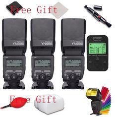 3* Yongnuo YN685 Wireless Flash Speedlite E-TTL 1/8000s +YN622C-TX LCD for Canon #Yongnuo