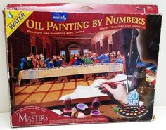 "Reeves Oil Paint by Numbers Masters Collection The Last Supper Da Vinci 12""x16"" #Reeves"