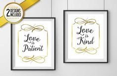 Love is Patient Love is Kind Print Digital Download (2 VERSIONS INCLUDED!)