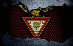 Download wallpapers Aves, 4k, logo, Primeira Liga, soccer, football club, Portugal, CD Aves, grunge, metal texture, Aves FC