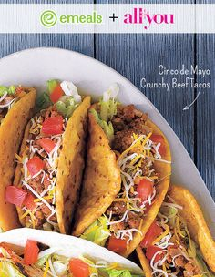 Crunchy Beef Tacos from eMeals and All You Magazine