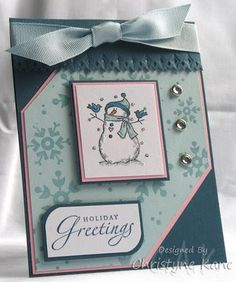 Stampin' with Sugar: Snowman Greeting