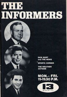 A gallery of vintage TV news program ads showing what the news looked like in the and Rochester New York, Tv Station, Vintage Tv, Growing Up, Ads, Memories, History, Film, Gallery