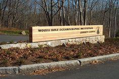 Woods Hole Oceanographic Institution - Roll Barresi & Associates - Wayfinding & Graphic Design Monument Signage, Park Signage, Wayfinding Signage, Signage Design, Entrance Signage, Exterior Signage, Environmental Graphic Design, Environmental Graphics, School Signage