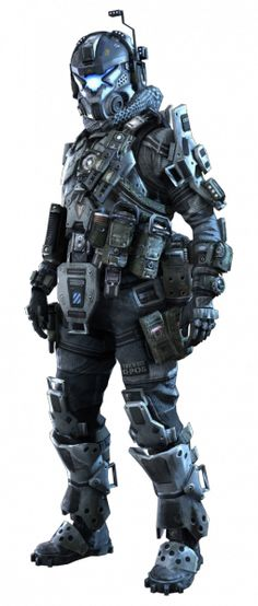 "A male I.M.C pilot from the Microsoft exclusive ""Titanfall""."