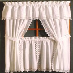 Crochet Tier Curtains ... http://www.curtainshop.com/644735/products/Crochet-Tier.html