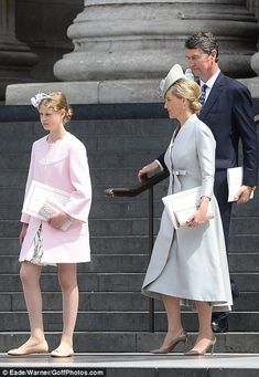 Sophie Countess of Wessex and daughter Lady Louise. 10 June 2016