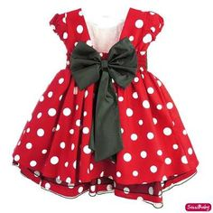 Vestido Minnie Vermelho Festa Infantil Luxo Com Tiara - R$ 109,00