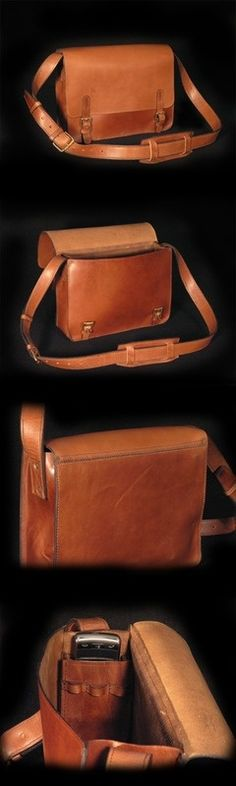 Escape Leather Satchel...note phone pocket and pen slots