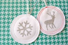 Simply Sewn Glitter Ornaments