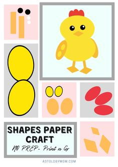 Shapes Puzzle Crafts, Animals Shapes Craft for kids and little toddlers. Kids of all ages from Preschool, kindergarten to primary grade, everyone will enjoy making these simple and easy animal crafts. Puzzle Crafts, Math Crafts, Bee Crafts, Easter Crafts, Crafts To Make, Fun Activities For Toddlers, Preschool Activities, Diy Quiet Books, Quiet Book Patterns