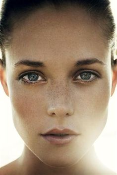 Freckles and light.