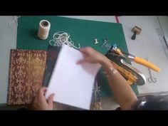 Encuadernación - Pasta para Costura francesa interna - YouTube