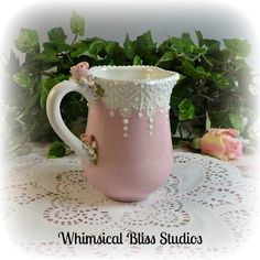 Lace & Whimsy Mug    #61031-1