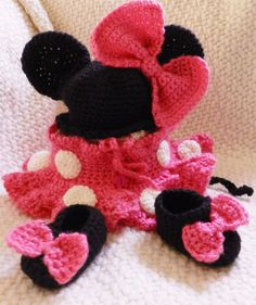 EXCLUSIVE Crochet Newborn Infant DISNEY Minnie by picoloknitting, $55.00