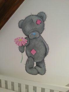 Polar bear with flower
