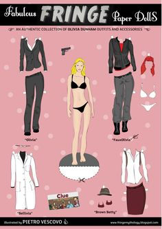 How cool is this - paper dolls with Olivia's different looks!