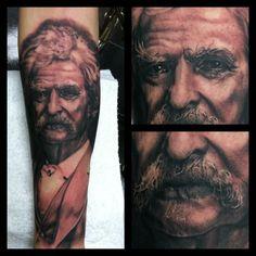 Mark Twain tattoo