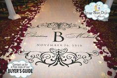 My girl is gifting me my aisle runner and I love her so effing much. Not because of the aisle runner of course, I lover her always, but Omg look at this. Monogram Wedding Aisle Runner on Real Cloth that Won't Rip or Tear. On Your Wedding Day, Wedding Blog, Dream Wedding, Wedding Stuff, Wedding 2015, Wedding Goals, Wedding Themes, Trendy Wedding, Diy Wedding